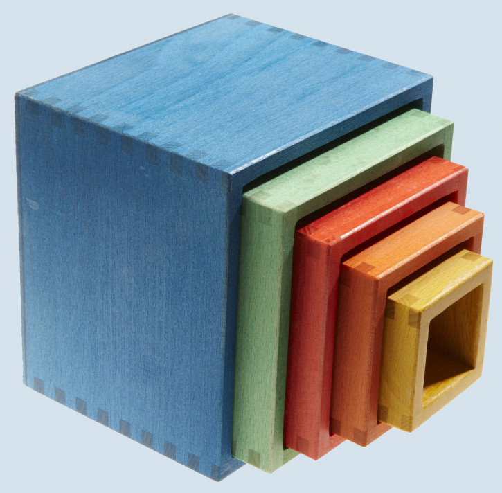 nic - baby stacking cube - wood, eco
