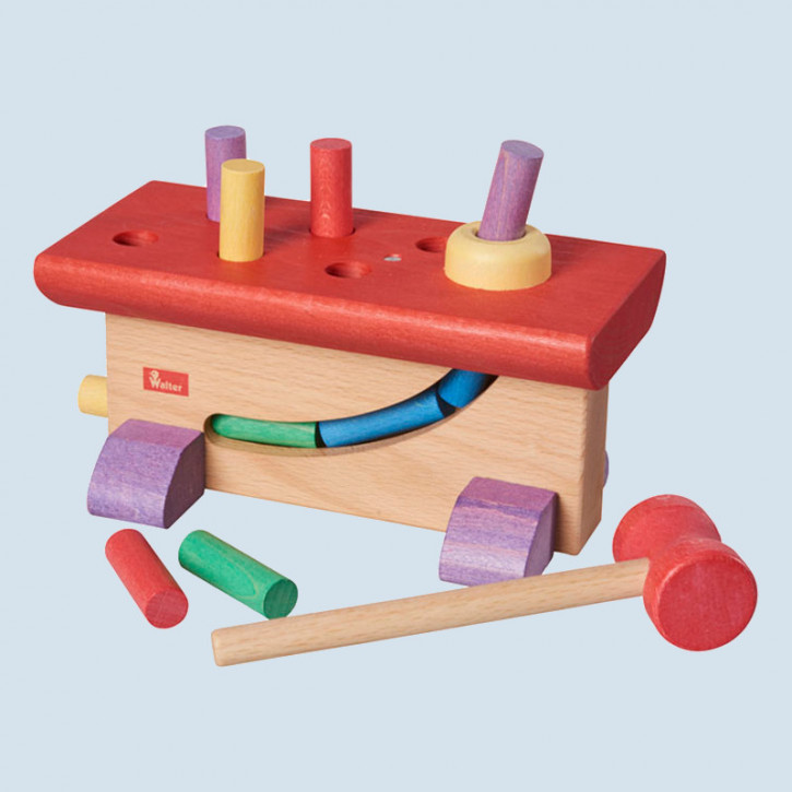 nic, Walter - hammer bench  for children - wood, eco