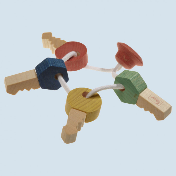 nic, Walter - baby grabbing toy first keys - wood, eco