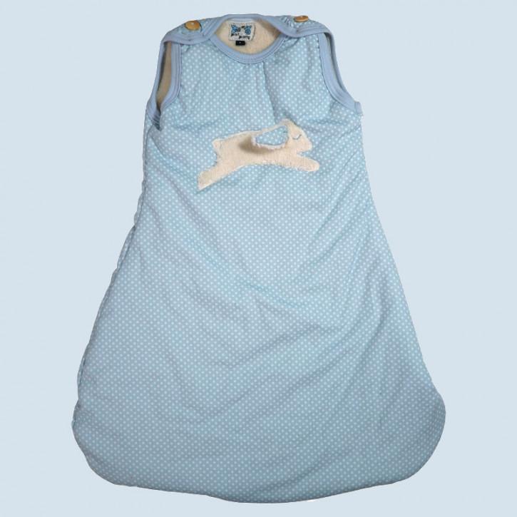 Pat & Patty Babyschlafsack Hase - blau, Baumwolle, Bio Qualität