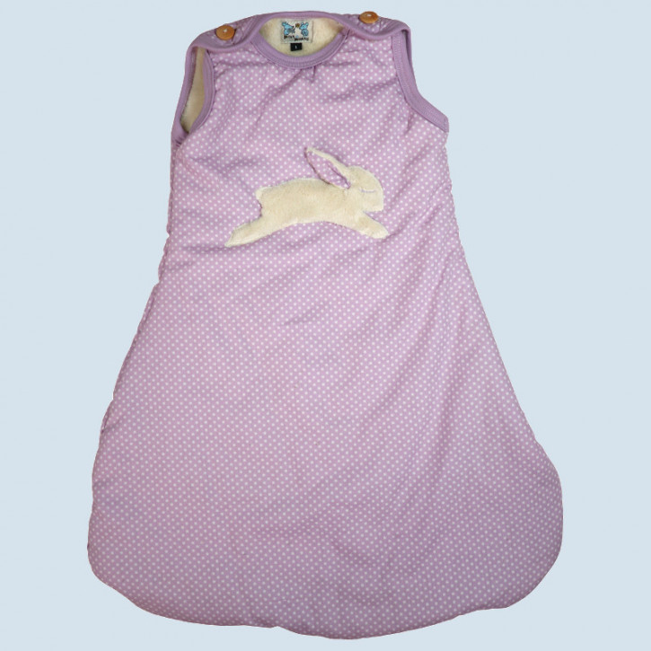 Pat & Patty Babyschlafsack Hase, flieder, Winter