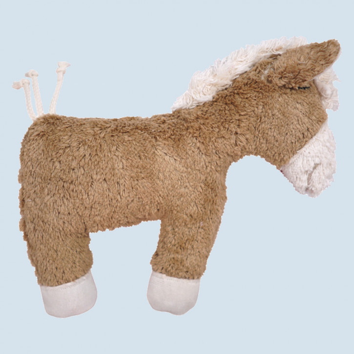 Pat & Patty grabbing toy - horse - brown, with rattle