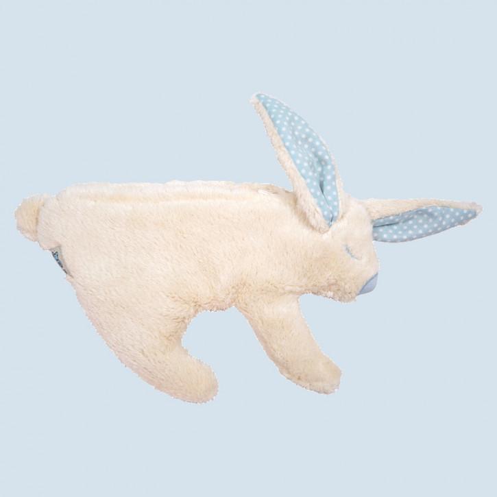 Pat & Patty Kirschkernkissen - Hase - blau, Baumwolle Bio Qualität