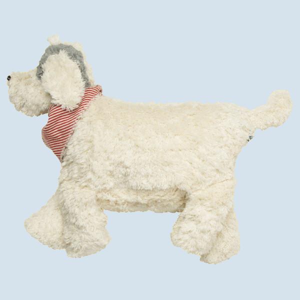 Pat & Patty Kuschelkissen, Kuscheltier Hund - weiß, Baumwolle, Bio