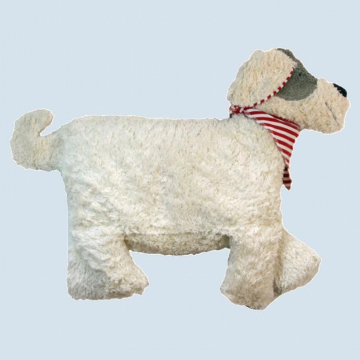 Pat & Patty Kuschelkissen, Hund, weiß - Baumwolle, Bio