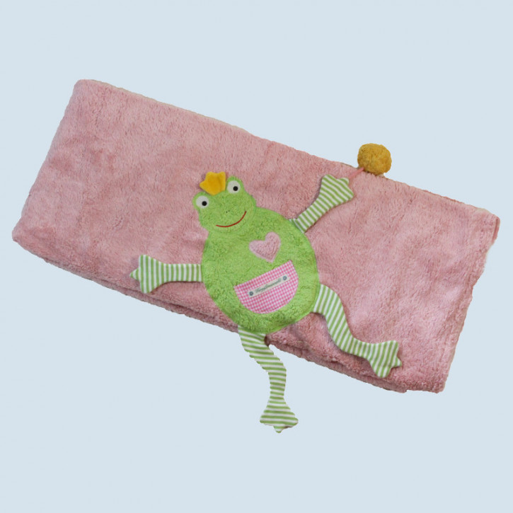 Pat & Patty Babydecke Frosch - rosa, Baumwolle Bio Qualität