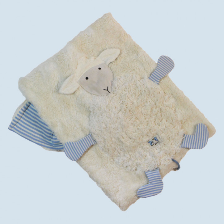 Pat & Patty Babydecke Schaf - blau, Baumwolle Bio Qualität