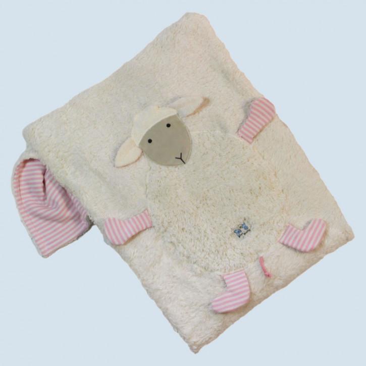 Pat & Patty Babydecke Schaf - rosa, Baumwolle Bio Qualität