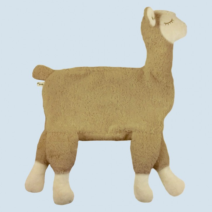 Pat & Patty pillow - Alpaca - beige, organic cotton, eco