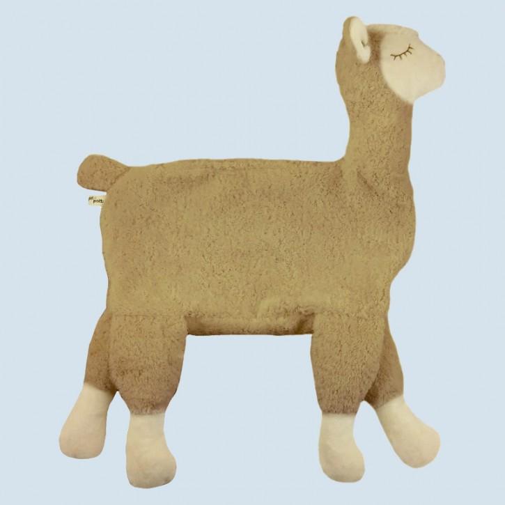 Pat & Patty Kuschelkissen Alpaka - Baumwolle Bio Qualität, beige, Hirse