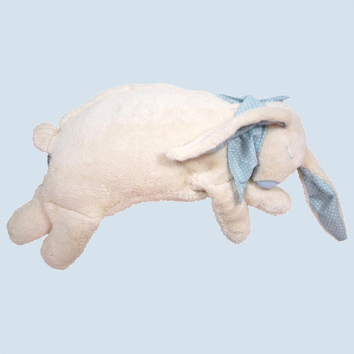 Pat & Patty Kuschelkissen Hase - blau, Baumwolle Bio Qualität