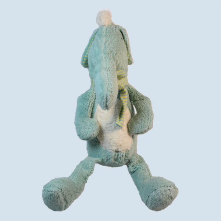 Pat & Patty Kuscheltier - Elefant Adelheid - blau, Bio Baumwolle
