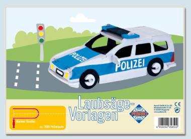 Pebaro - Laubsägevorlage - Polizeiauto, Holz