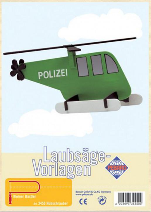Pebaro - Laubsägevorlage - Hubschrauber, Holz