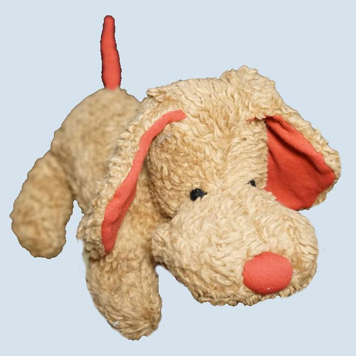 plue natur cuddly toy - dog Waldo, brown - eco