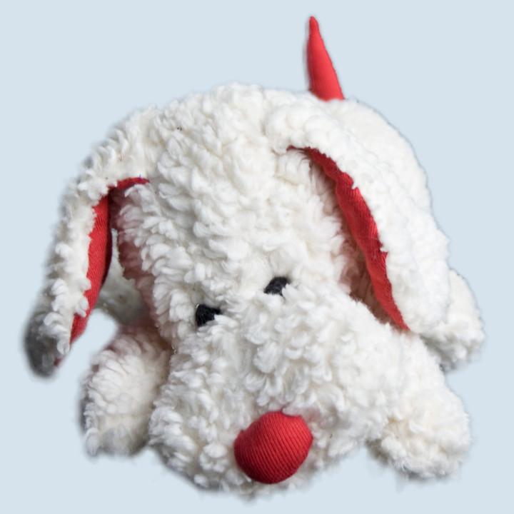 plue natur cuddly toy - dog Waldo, white - eco