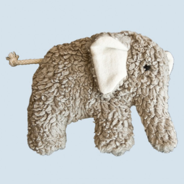 plue natur grabbing toy - elephant, grey, eco