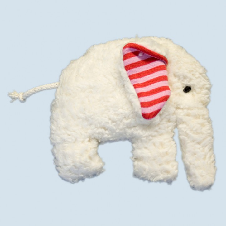 plue natur grabbing toy - elephant, red, eco