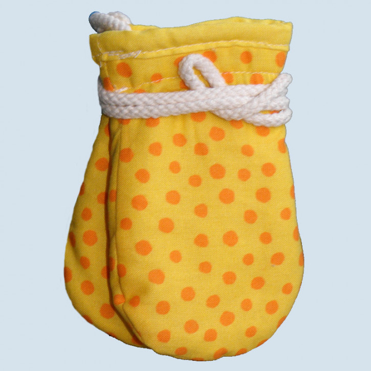 plue nature, baby gloves, yellow - eco