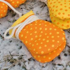 plü natur - Baby Handschuhe - Baumwolle, Bio Qualität, orange-gelb