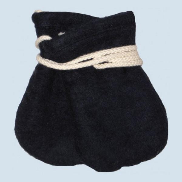 plü natur - Baby Handschuhe - Baumwolle, Bio Qualität, blau