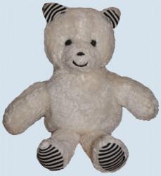plü natur Stofftier - Bär, Teddy - weiss, Bio Baumwolle, Kuscheltier