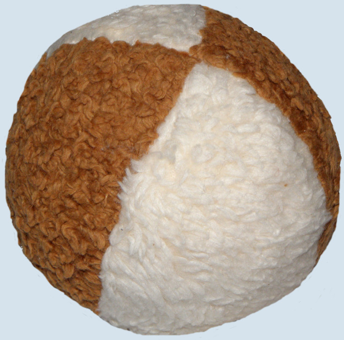 plü natur - Baby Ball - natur, braun - Bio Baumwolle