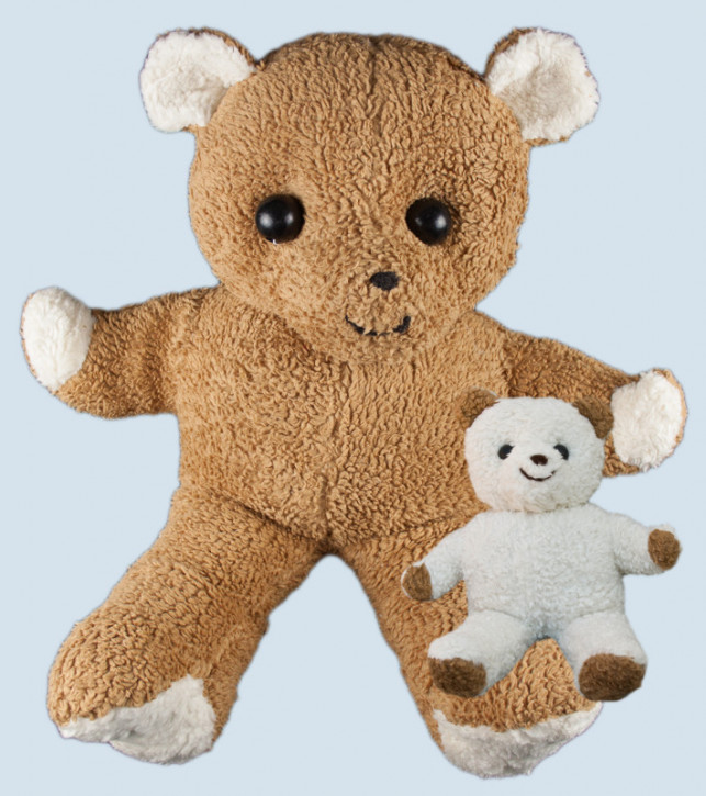 plü natur - Stofftier Bär, Teddy XXL - braun, Bio Baumwolle, öko