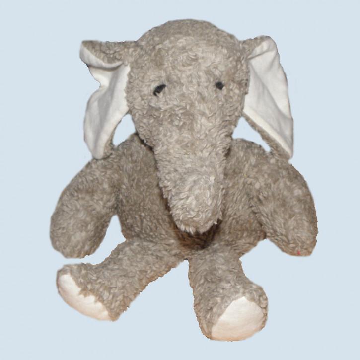 plue natur cuddly animal - elephant Rudi - eco, grey
