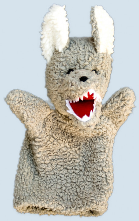 plue natur - hand puppet - wolf - eco