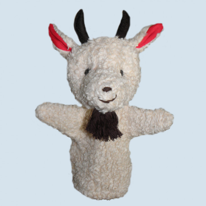 plue natur - hand puppet - goat - eco