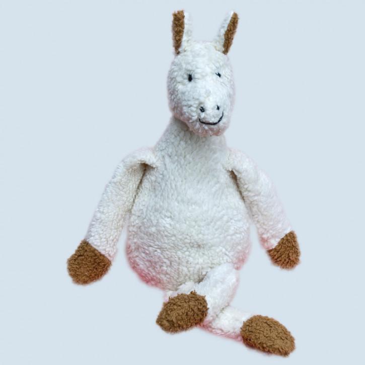 plue natur cuddly animal - donkey - white, eco