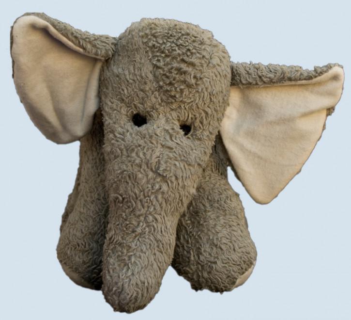 plü natur Stofftier - Elefant - grau, Bio Baumwolle
