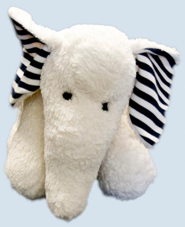 plue natur cuddly animal - elephant Finn, white, eco