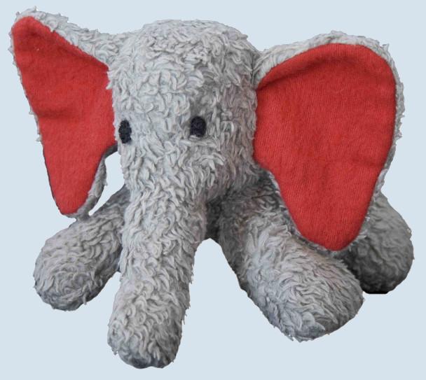 plü natur Stofftier - Elefantm Fanti - grau, Bio Baumwolle