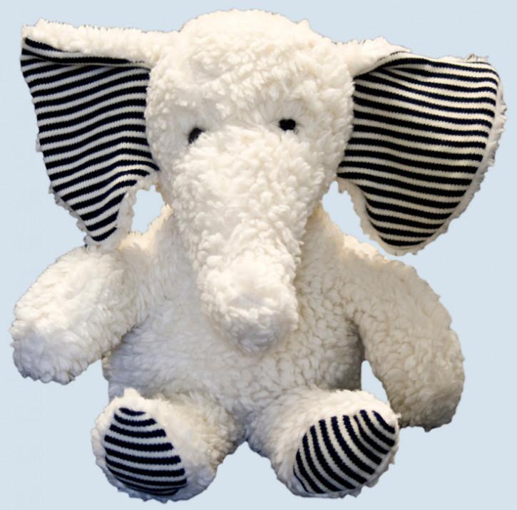 plue natur cuddly animal - elephant Rudi - eco, white