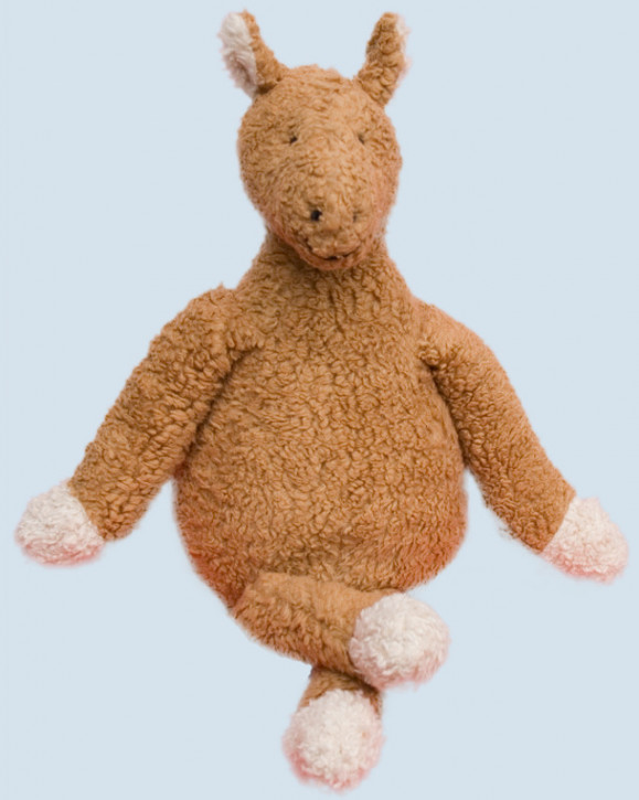 plue natur cuddly animal - donkey - brown, eco