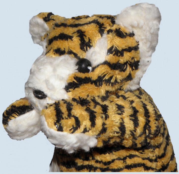 plü natur Stofftier - Tiger - schwarz, gelb, Bio Baumwolle, Buchweizen