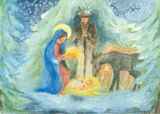 Kunstpostkarte - Weihnachten