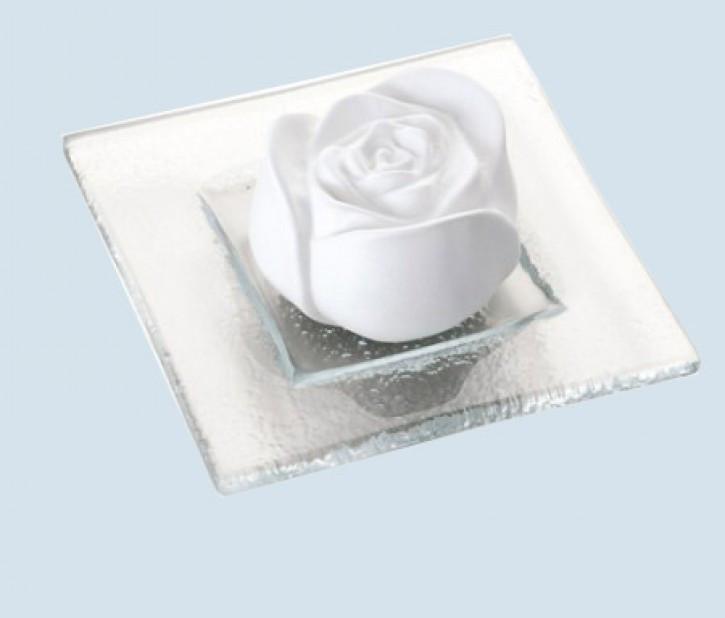 Primavera - Duftstein Rosenblüte - mit Glasteller