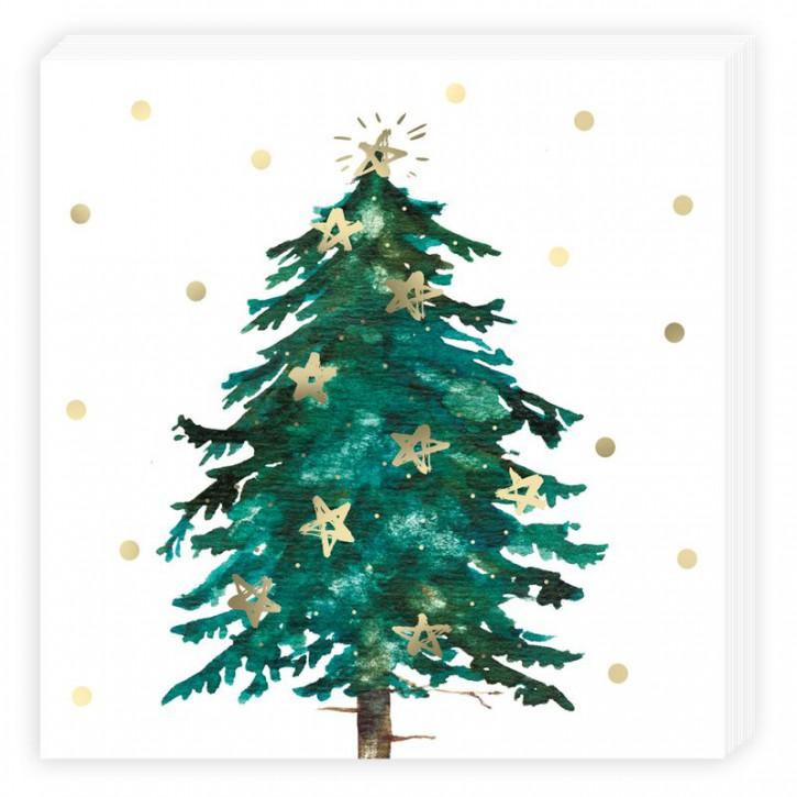 Grätz Verlag - Serviette - Baum mit Sternen