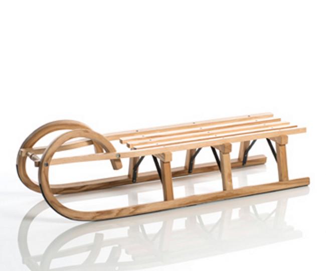 sirch - Rodelschlitten, Hörnerrodel Standard plus Lattensitz - 115 cm