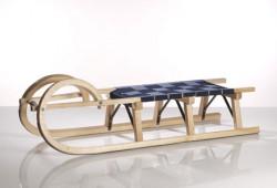 Sirch - Rodelschlitten / Hörnerrodel Standard plus - Gurtsitz - 115 cm