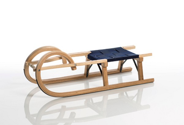 Sirch - Rodelschlitten / Hörnerrodel Standard plus - Gurtsitz - 100 cm