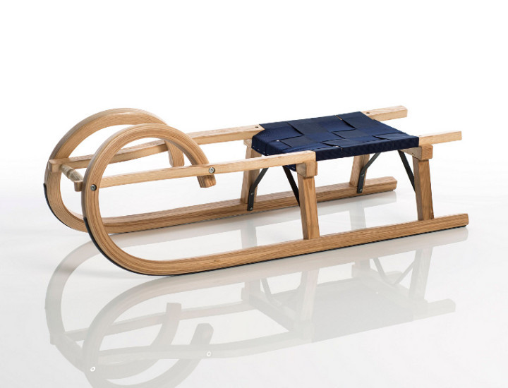 sirch - Rodelschlitten, Hörnerrodel Standard plus mit Gurtsitz - 100 cm