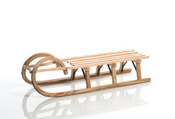 Sirch - Rodelschlitten, Hörnerrodel Standard plus - Lattensitz, 115 cm