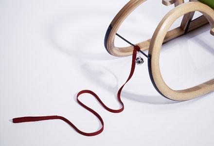 Sirch - Ziehseil - Ziehgurt rot mit Glocke - für Rodelschlitten