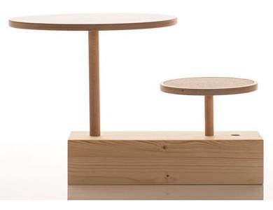 Sirch - Hocker und Tisch claus - für Kinder - mit Filzauflage