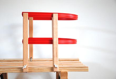 Sirch - Rückenlehne, Sitzhilfe für Schlitten - Rodelschlitten