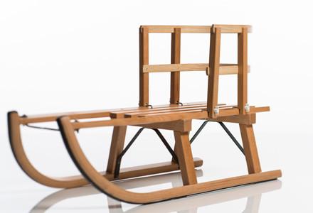 Sirch - Rückenlehne, Sitzhilfe für Schlitten - Rodelschlitten aus Holz